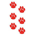 TattooGirlsRule 6 Red Paw Print Temporary Tattoos (#PR354_3)