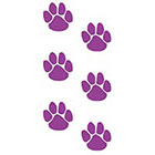 TattooGirlsRule 6 Purple Paw Print Temporary Tattoos (#PP355_3)