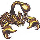 TattooGirlsRule Brown Scorpion Temporary Tattoo (#BT503)