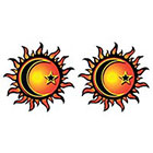 TattooGirlsRule 2 Sun-Moon-Star Temporary Tattoos (#D465_2)