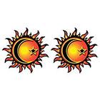 TattooGirlsRule 2 Sun-Moon-Star Temporary Tattoos (#D465_2)