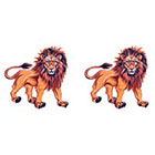 TattooGirlsRule 2 Lion Temporary Tattoos (#D471_2)
