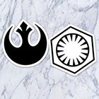 Tatzarazzi Resistance First Order Temporary Tattoo Black Ink Small Medium Size Realistic Costume