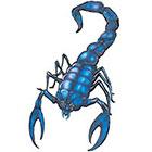 TattooGirlsRule Blue Scorpion Temporary Tattoo (#AA511)