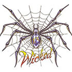 TattooGirlsRule Wicked Spider On Web Temporary Tattoo (#NM520)