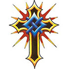 TattooGirlsRule Crusader Cross Temporary Tattoo (#DB560)