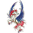 TattooGirlsRule Flying Horse Temporary Tattoo (#DB553)