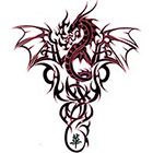 TattooGirlsRule Dragon Crest Temporary Tattoo (#BC571)