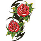 TattooGirlsRule Tribal Roses Temporary Tattoo (#DB562)