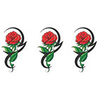 TattooGirlsRule 3 Tribal Rose Temporary Tattoos (#B423_3)