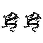 TattooGirlsRule 2 Black Dragon Temporary Tattoos #D495_2