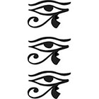TattooGirlsRule 3 Eye of Horus Temporary Tattoos #D366_3