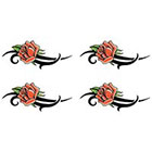 TattooGirlsRule 4 Tribal Rose Small Temporary Tattoos (#D304_4)
