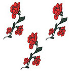 TattooGirlsRule 3 Rose Temporary Tattoos on Vine (#C441_3)