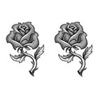 TattooGirlsRule 2 Grey Rose Temporary Tattoos (#P426_2)