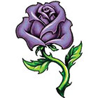 TattooGirlsRule Large Blue Rose Temporary Tattoo (#VS442)