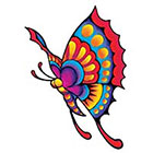 TattooGirlsRule Large Colorful Butterfly Temporary Tattoo (#VS454)