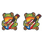 TattooGirlsRule 2 Coqui Tree Frog from Puerto Rico Temporary Tattoos (#PR431_2)