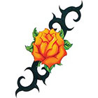 TattooGirlsRule Large Yellow Rose Design Temporary Tattoo (#VS446)