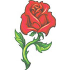 TattooGirlsRule Large Red Rose Temporary Tattoo (#VS451)