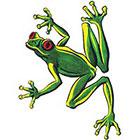TattooGirlsRule Green Tree Frog Temporary Tattoo (#FL430)