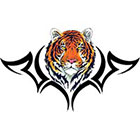 TattooGirlsRule Tiger Head Design Temporary Tattoo (#DB525)