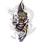 TattooGirlsRule Tiger Tearing Out Temporary Tattoo (#BC574)