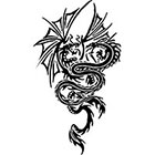TattooGirlsRule Large Two Dragons Fighting Temporary Tattoo (#BR542B)