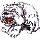 TattooGirlsRule Bulldog Temporary Tattoo (#DB533N)