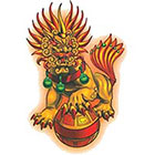 TattooGirlsRule Chinese Lion Temporary Tattoo (#BN540)