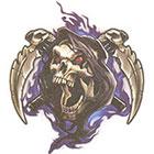 TattooGirlsRule Grim Reaper Skull Temporary Tattoo (#SK505)