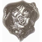 TattooGirlsRule Spanish Eyes with Rose Temporary Tattoo (#M474)
