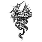 TattooGirlsRule Two Dragons Fighting Temporary Tattoo (#BR542)