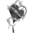 TattooGirlsRule Captured Heart Temporary Tattoo (#DB522)
