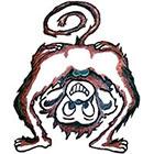 TattooGirlsRule Belly Button Monkey Temporary Tattoo (#D570)
