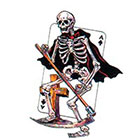TattooGirlsRule Grim Reaper on Ace of Spades Temporary Tattoo (#AS507)