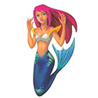 TattooGirlsRule Red Hair Mermaid Temporary Tattoo (#AM586)