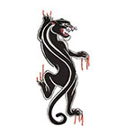TattooGirlsRule Black Panther Temporary Tattoo (#D532)