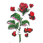 TattooGirlsRule Large Rose Temporary Tattoo (#HR803)