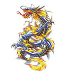 TattooGirlsRule Large Blue Chinese Dragon Temporary Tattoo (#D801)