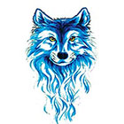 TattooGirlsRule Large Blue Wolf Temporary Tattoo (#807)