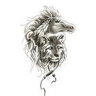 TattooGirlsRule Horse and Bear Temporary Tattoo (#DB524)