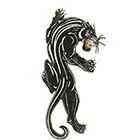 TattooGirlsRule Large Black Jaguar or Panther Temporary Tattoo (#822)
