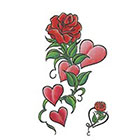 TattooGirlsRule Large Roses and Hearts Temporary Tattoo (#D8022)
