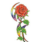 TattooGirlsRule Large Tribal Rose Temporary Tattoo (#D8012)