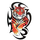 TattooGirlsRule Large Tribal Tiger Temporary Tattoo (#D8024)