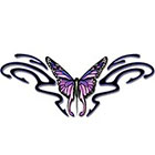 TattooGirlsRule Large Butterfly Design for the Back Temporary Tattoo (#BR547B)