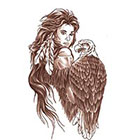 TattooGirlsRule Indian Maiden with Eagle Temporary Tattoo (#DB520)