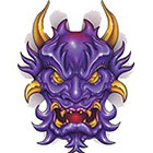 TattooGirlsRule Demon Mask Temporary Tattoo (#BN539)