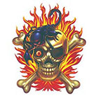 TattooGirlsRule Pirate Skull with Scorpion Temporary Tattoo (#BN551)
